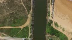 Aerial View of Native Community Boat Pear in Espirito Santo, Brazil Stock Footage
