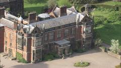 AERIAL United Kingdom-Dunham Massey Hall Stock Footage