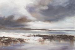 Stormy Sea Scape - stock illustration
