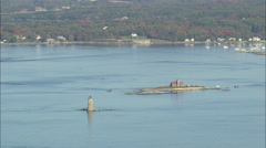 AERIAL United States-Fort Mcclary Stock Footage