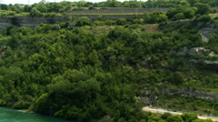 Niagara River and Hydro Generating Facility Stock Footage