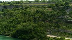 Niagara River and Hydro Generating Facility Stock Footage
