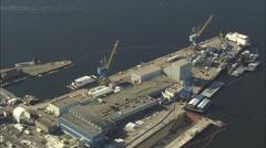 AERIAL United States-Seavey's Island Stock Footage