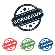 Stock Illustration of Round Bordeaux city stamp set