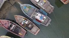 Aerial View of Native Community Boat Pear in Brazil Stock Footage