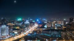 Novosibirsk hight point view - stock footage