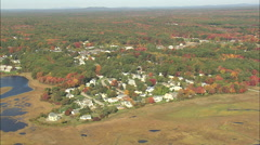 AERIAL United States-Ogunquit River And Beach Stock Footage