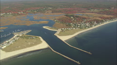 AERIAL United States-Webhannet River And Coast Stock Footage