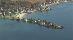 AERIAL United States-Kennebunkport Beach Stock Footage