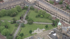 AERIAL United Kingdom-Hamilton Square, Birkenhead Stock Footage
