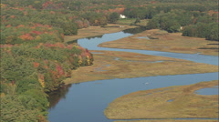 AERIAL United States-Mousam River Stock Footage