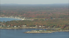 AERIAL United States-The Bush Compound Stock Footage
