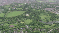 AERIAL United Kingdom-Sefton Park, Liverpool Stock Footage