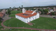 The Church Igreja dos Reis Magos in Nova Almeida, Espirito Santo, Brazil Stock Footage