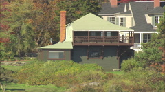 AERIAL United States-Winslow Homer's Studio House Stock Footage