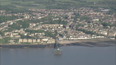 AERIAL United Kingdom-Clevedon Pier - stock footage
