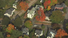 AERIAL United States-Harriet Beecher Stowe House Stock Footage