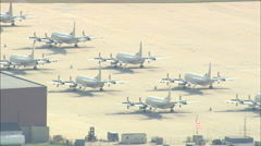 AERIAL United States-Naval Air Station Brunswick Stock Footage