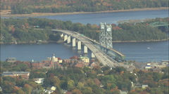 AERIAL United States-Old And New Carlton Bridges Stock Footage