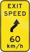 Advisory Exit Speed in Australia Stock Illustration