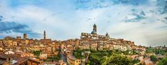 Historic centre with the cathedral Cattedrale di Santa Maria Assunta and Torre Stock Photos