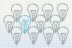 business vision: be unique, not average - stock illustration