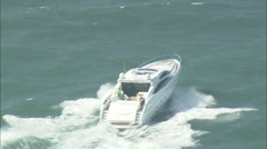 AERIAL United Kingdom-Boat On Channel Stock Footage