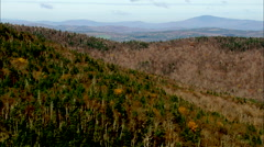 AERIAL United States-Landscape Around Dixville Notch Stock Footage