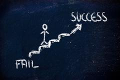 climb to individual success - stock illustration