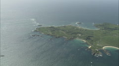 AERIAL Guernsey-Alderney Island Stock Footage