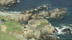 AERIAL Guernsey-North Guernsey Fort Stock Footage