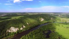Aerial shot Mountain river Stock Footage