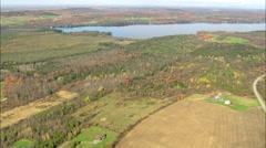 AERIAL United States-Lake Carmi Stock Footage