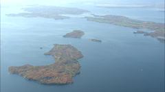 AERIAL United States-North End Of Lake Champlain Stock Footage