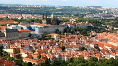 view at Prague Castle - stock footage