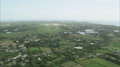 AERIAL Guernsey-Flight Across Guernsey's South Coast Stock Footage