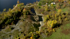 AERIAL United States-Fisk Quarry Stock Footage