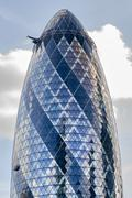 The whole Gherkin in London Stock Photos