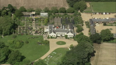 AERIAL Jersey-Samares Manor Stock Footage