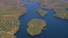 AERIAL United States-Southern End Of Lake Candlewood Stock Footage