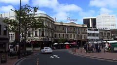 New Zealand Streets of Dunedin Stock Footage