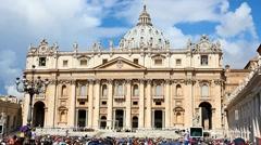 Weekly general audience at Vatican Stock Footage