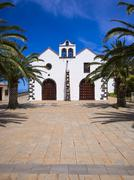Stock Photo of Church of Garafia Plaza Baltazar Martin Santo Domingo de Garafia La Palma