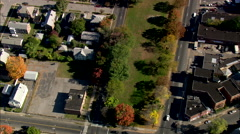 AERIAL United States-Old Mill Green - stock footage