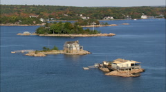 AERIAL United States-Thimble Islands Stock Footage