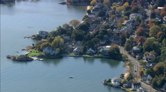AERIAL United States-Coastline Around Banford Stock Footage