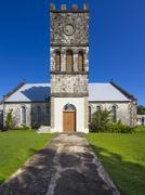 St George39s Anglican Church Jamaica National Heritage Trust Buff Bay Portland - stock photo