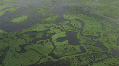 AERIAL France-Briere Marshes Stock Footage
