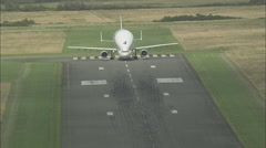 AERIAL France-Airbus Beluga Takes Off Stock Footage