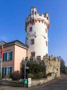 Adlerturm tower Rudesheim am Rhein Rhine Gorge Hesse Germany Europe Stock Photos